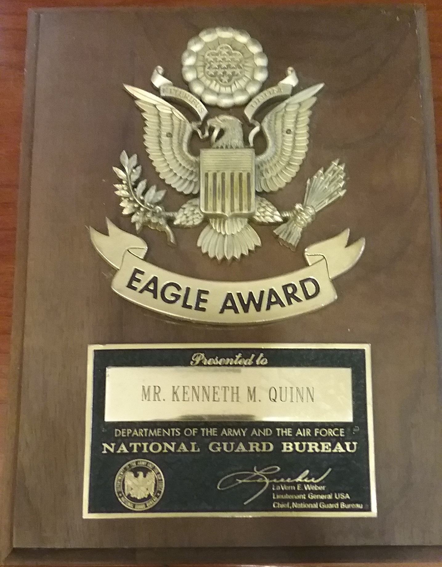 View post titled National Guard Bureau Eagle Award